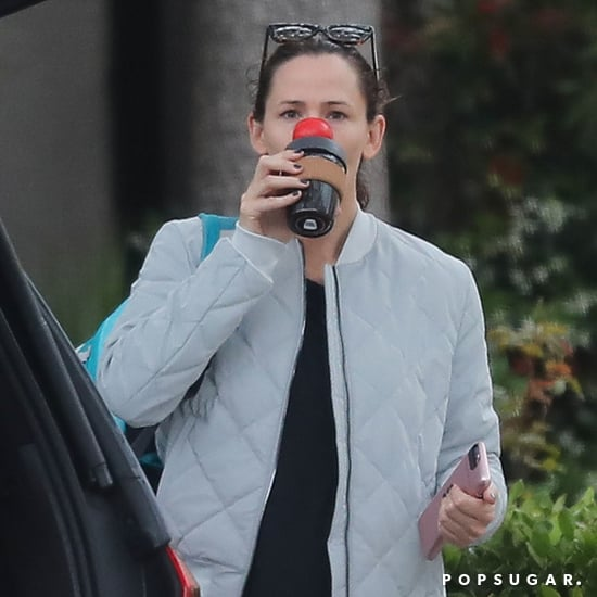 Jennifer Garner Wearing Red Nose in LA May 2017