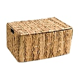 Large Chevron Open Weave Natural Storage Bin