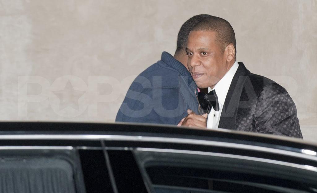 Jay-Z left the 40/40 Club.