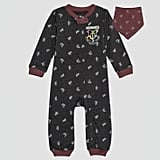 Baby Harry Potter Long Sleeve Romper and Bib Set