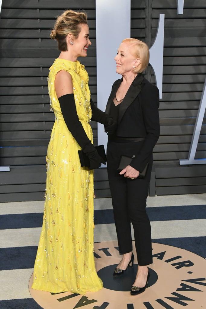 Holland Taylor and Sarah Paulson at Oscars Afterparty 2018