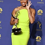 Regina King at the 2018 Emmy Awards