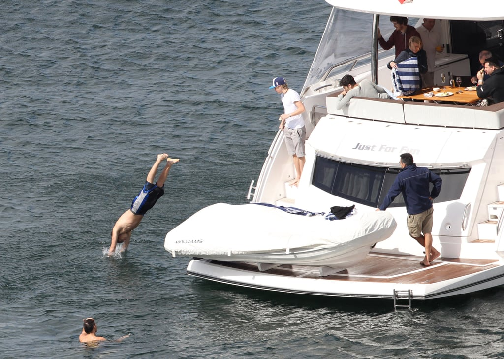 One Direction hung out in Australia while taking a dive and getting some sun.