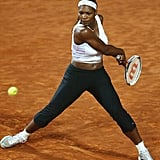 Serena Williams Wearing Black Pants at the Italia Tennis Masters in 2004