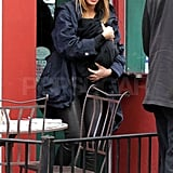 Beyoncé Knowles had her duaghter Blue Ivy Carter along for a lunch daate.