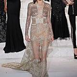 Kendall Closed the Show at La Perla in a Naked Dress
