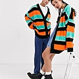 Collusion Unisex Oversized Stripe Cardigan