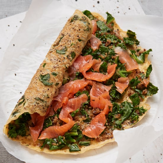 Salmon, Kale, and Quinoa Egg Wrap Recipe