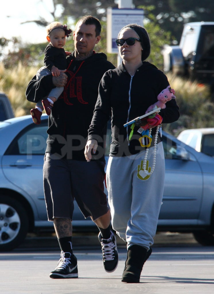 Pink and Carey Hart took baby Willow for some breakfast in LA.