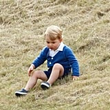 Prince George has the cutest little green thumb