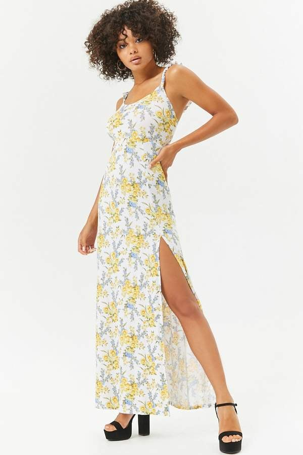 8899eba1cc4 Forever 21 Floral Maxi Slit Dress
