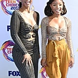 Chloe Bailey and Halle Bailey at the Teen Choice Awards 2019