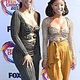 Chloe Bailey and Halle Bailey at the Teen Choice Awards 2019