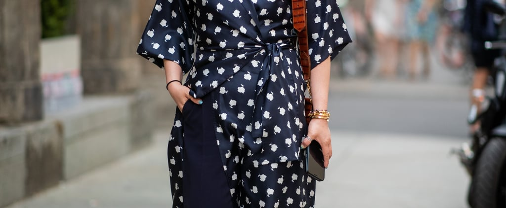 How to Wear a Wrap Dress Over Pants