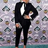 Gina Rodriguez's Tuxedo at Teen Choice Awards 2016