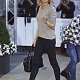 Sienna Polishes Off Airport Outfits With a Pair of Western Wedges
