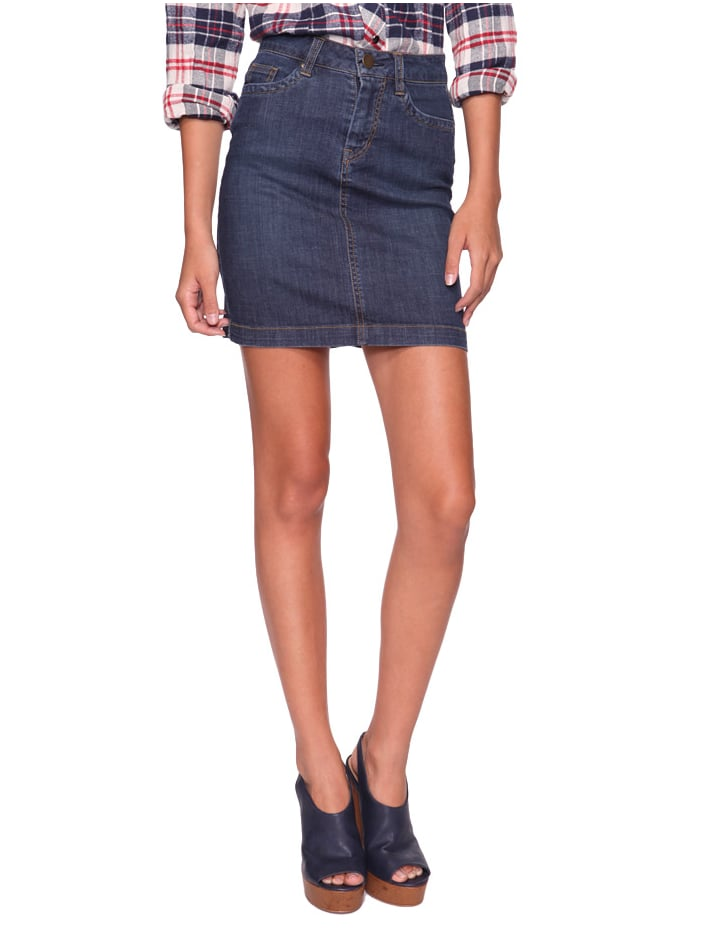 This classic pencil skirt silhouette can be dressed down with loafers and a button-up shirt, or dressed up with slick point to pumps, a silky blouse, and blazer.  Forever 21 Pencil Skirt ($18)
