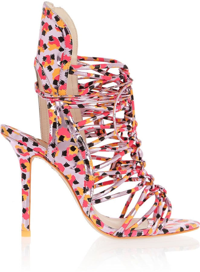 Sophia Webster Lacey Metallic Leather Sandals (£525)