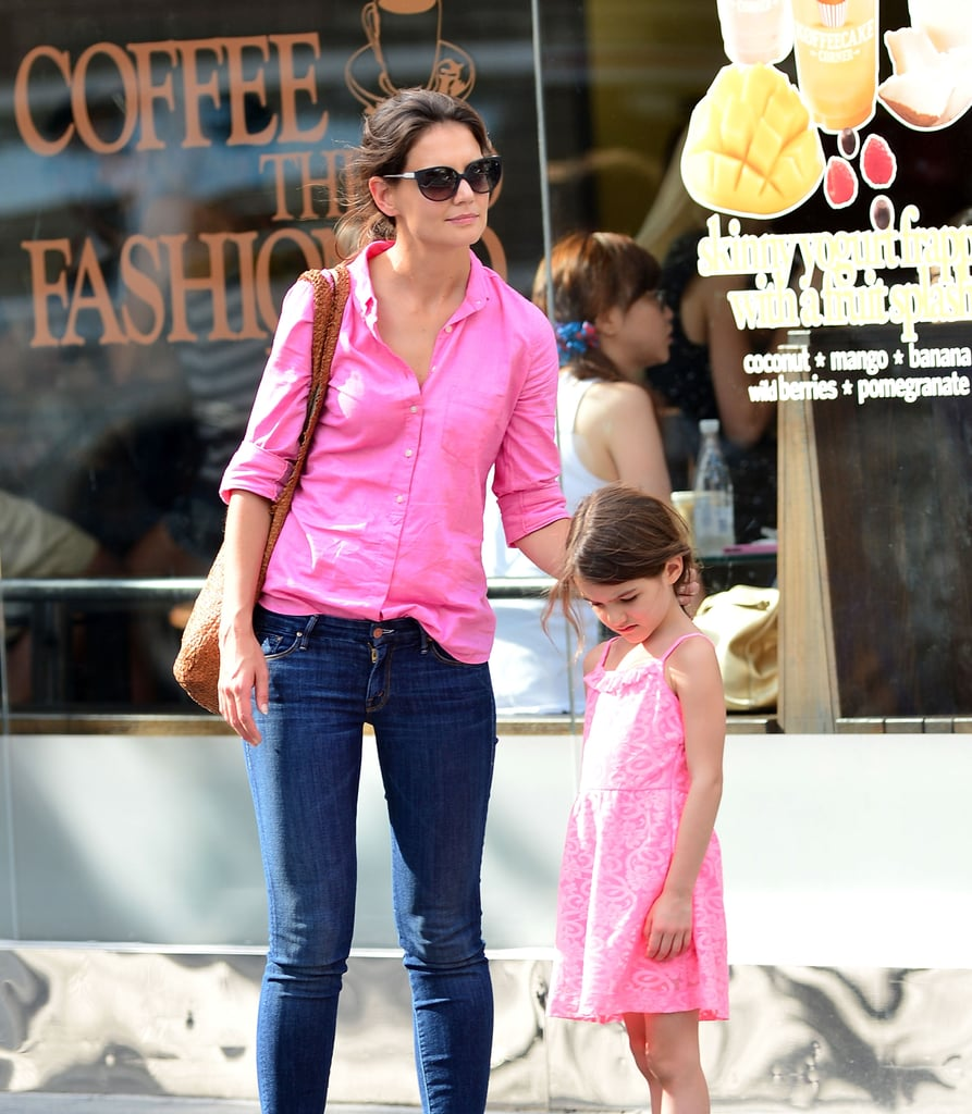 Katie Holmes and Suri Cruise Hit the Streets in Pink