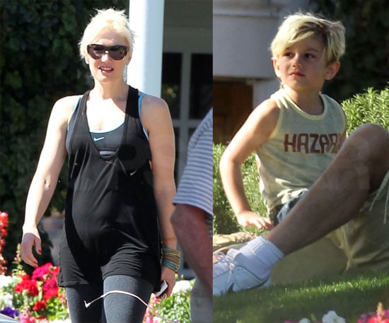 Pictures of Gwen Stefani and Gavin Rossdale Relaxing in the Desert With Kingston