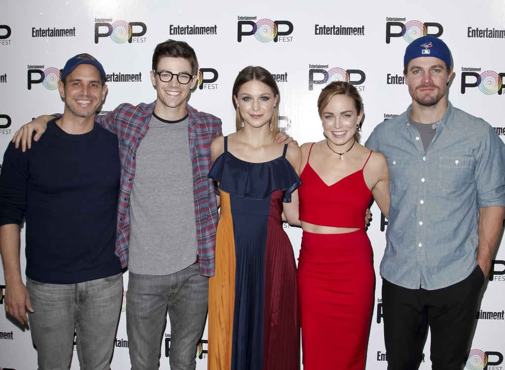 Photos of The Flash, Supergirl, and Arrow Cast Hanging Out
