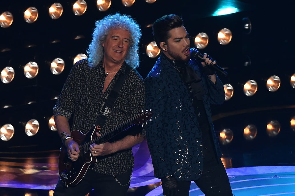 """Queen kicked the night off with a bang as they performed at the Oscars. On Sunday night, the iconic band was joined by Adam Lambert as they sang a medley of some of their greatest hits including """"We Will Rock You"""" and """"We Are the Champions."""" Seriously, who else got chills over Lambert's high note? Even the crowd couldn't help but dance and sing along.  The performance comes after the release of the band's biopic film, Bohemian Rhapsody, which was nominated for five Oscars including best actor for Rami Malek's portroyal of the late Freddie Mercury. Not only does the performance hold special meaning for the band, but it's also a pretty full-circle moment for Lambert as well, since he famously got his start on American Idol in 2009 after auditioning with """"Bohemian Rhapsody."""" Lambert even had a small cameo in the 2018 film. See more of the performance ahead!"""