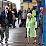 Queen Elizabeth II Catching Train at King's Cross Feb. 2017