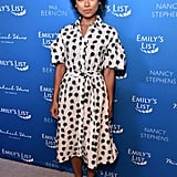 Logan Browning at the 2020 Emily's List Pre-Oscars Event