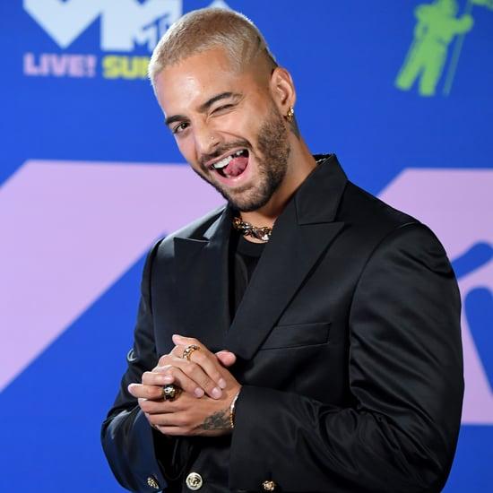 Maluma Wore Silver Fangs to the MTV VMAs 2020 | Photos