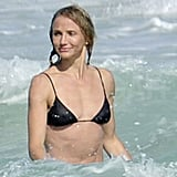 Cameron Prepped For the Super Bowl by Breaking Out Her Bikini With Shirtless Alex