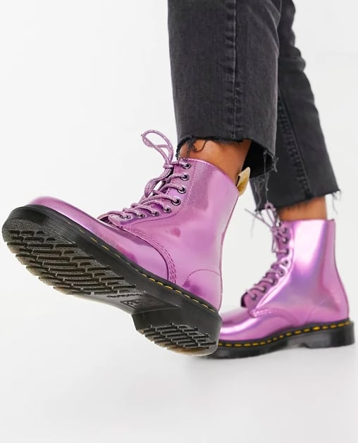 Dr. Martens Vegan 1460 Pascal Lace Up Boots in Pink Prysm