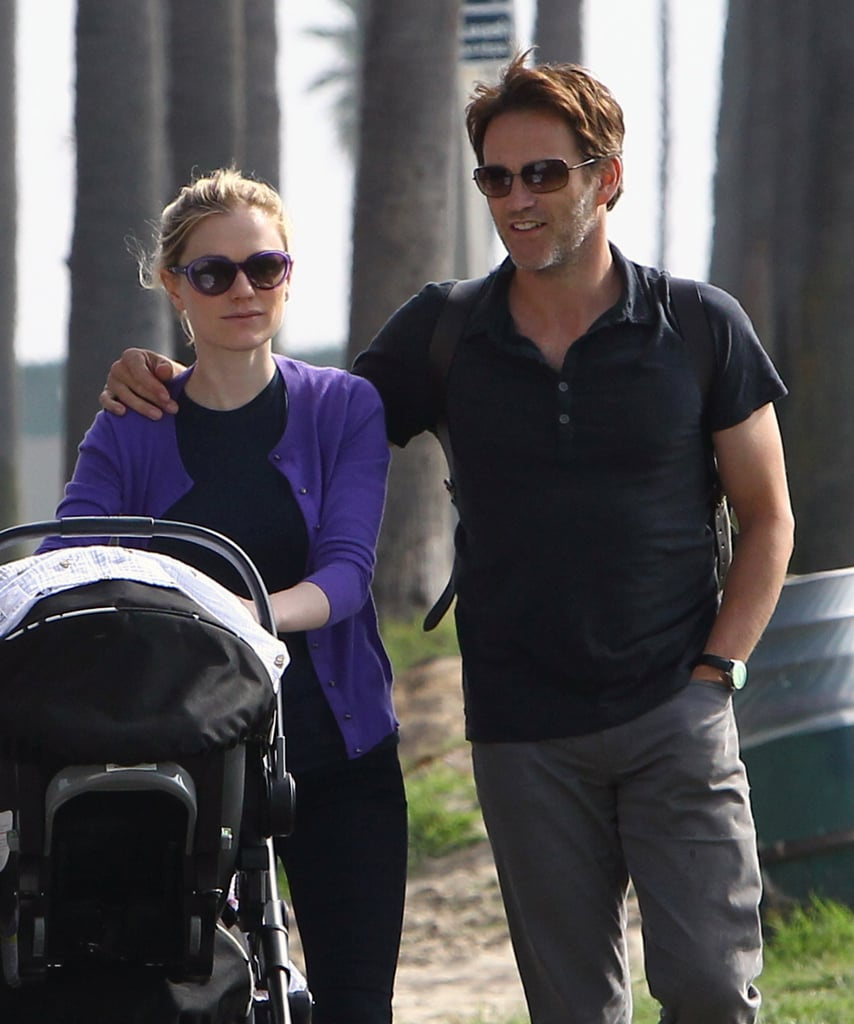Anna Paquin and Stephen Moyer walked in LA.