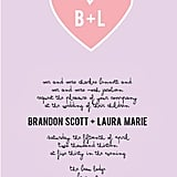 Heart Initals Wedding Invitation