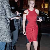 Kate Winslet looked hot in red.