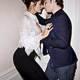 Hot Photos of Ed Westwick and Helena Christensen