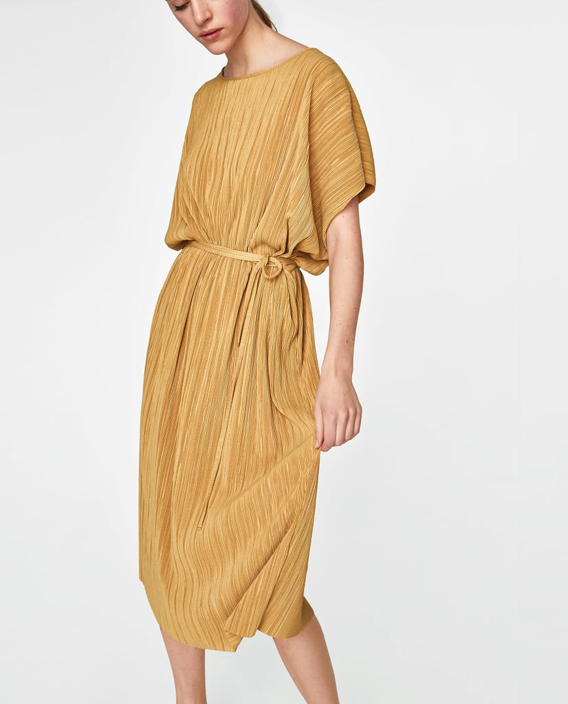 Zara Pleated Tunic With Belt
