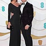 Emily Thomas and Taron Egerton at the 2020 BAFTAs in London