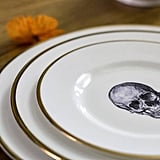 Melody Rose Skull Bone China Plate