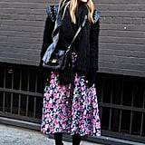 Style a Feminine Full Skirt For Winter