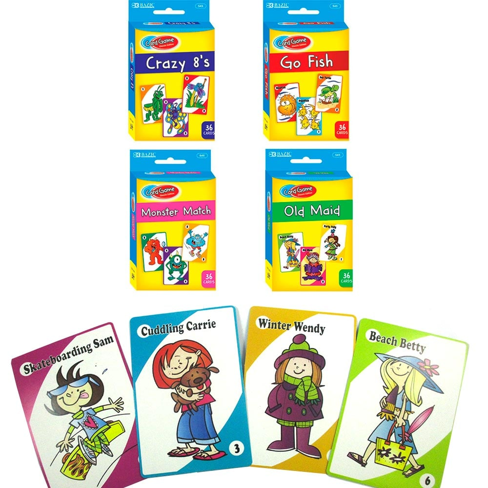 For 4-Year-Olds: 4 Classic Childrens Card Games