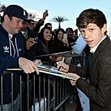 Tom Holland greeted fans.