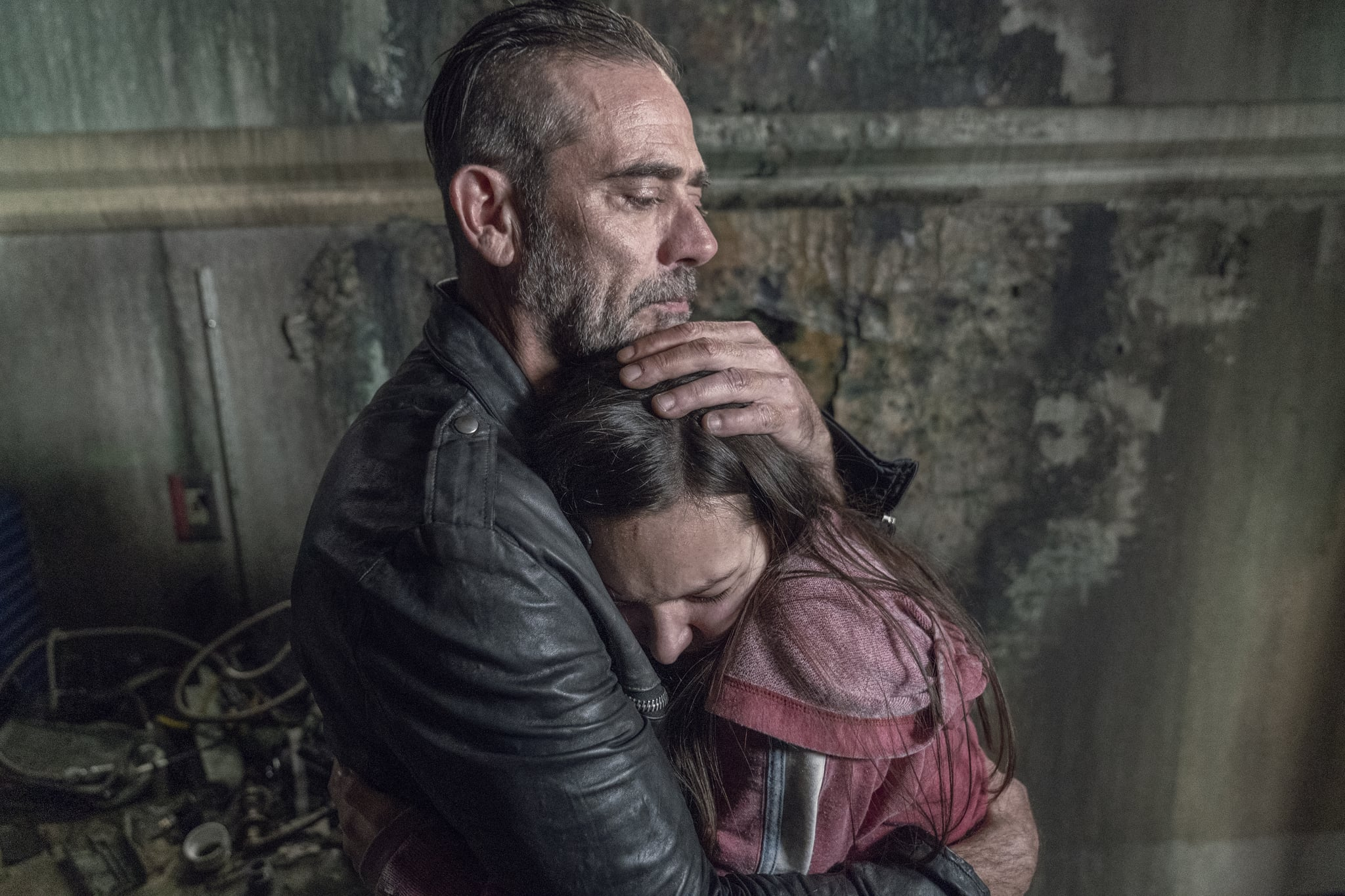 Cassady McClincy as Lydia, Jeffrey Dean Morgan as Negan - The Walking Dead _ Season 10, Episode 15 - Photo Credit: Jace Downs/AMC