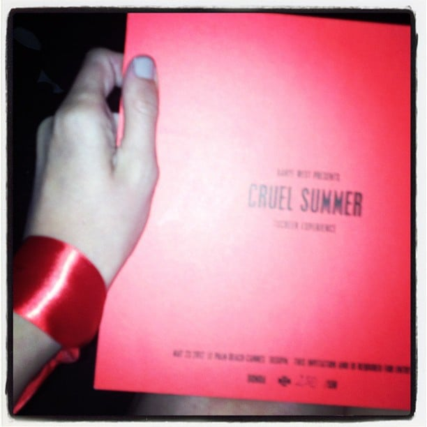 You needed an invite and a wristband to gain access to Kanye West's Cruel Summer launch party.