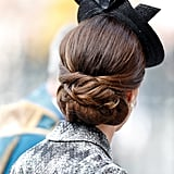 A Low, Braided Bun