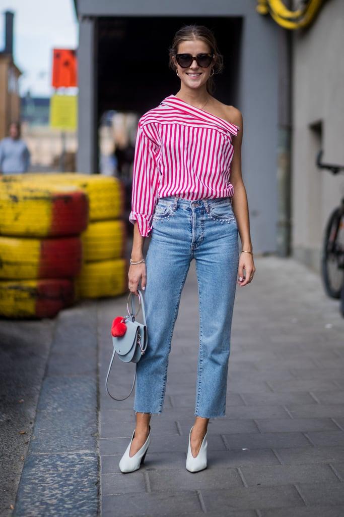 Fall 2019 Denim Trend: High-Rise Straight-Leg