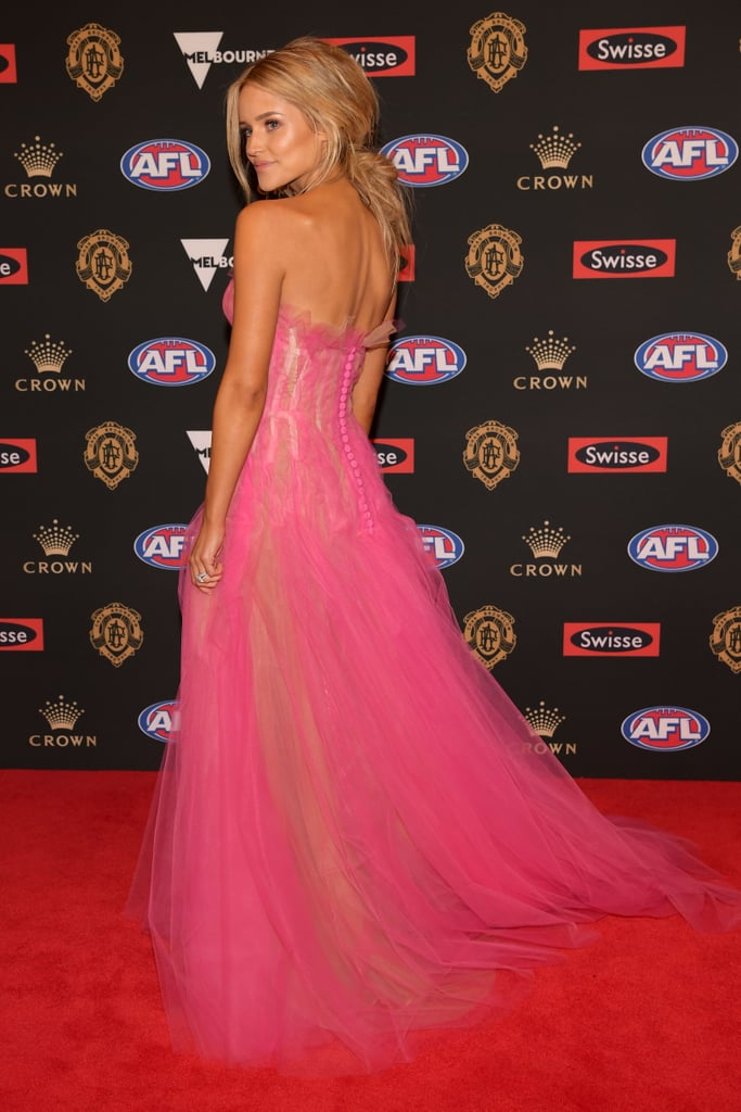 jessie murphy  live 2018 brownlow medal wags red carpet