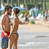 Julia Jones wore a bikini at the beach with shirtless Josh Radnor.