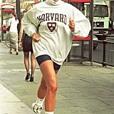 Princess Diana Wearing a College Sweatshirt in 1997