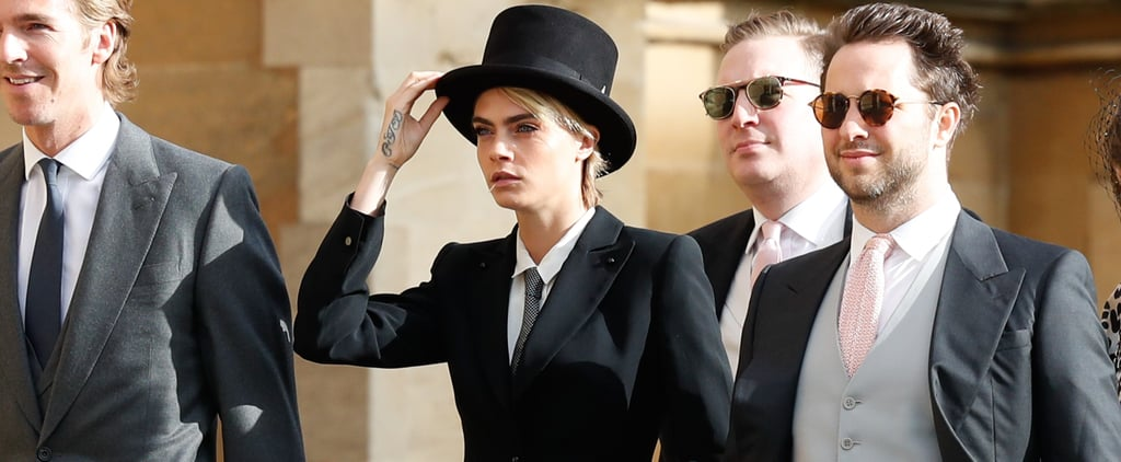 Cara Delevingne Suit at Princess Eugenie's Wedding 2018