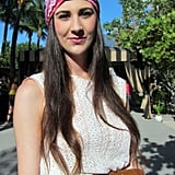 """""""I matched my head wrap to my Cambridge Satchel.""""  — Meagan"""